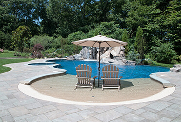 Custom Fire Amp Water Features Long Island Tanning Ledge